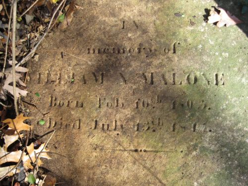 Billy Malone's long-lost gravesite was rediscovered in 2010.